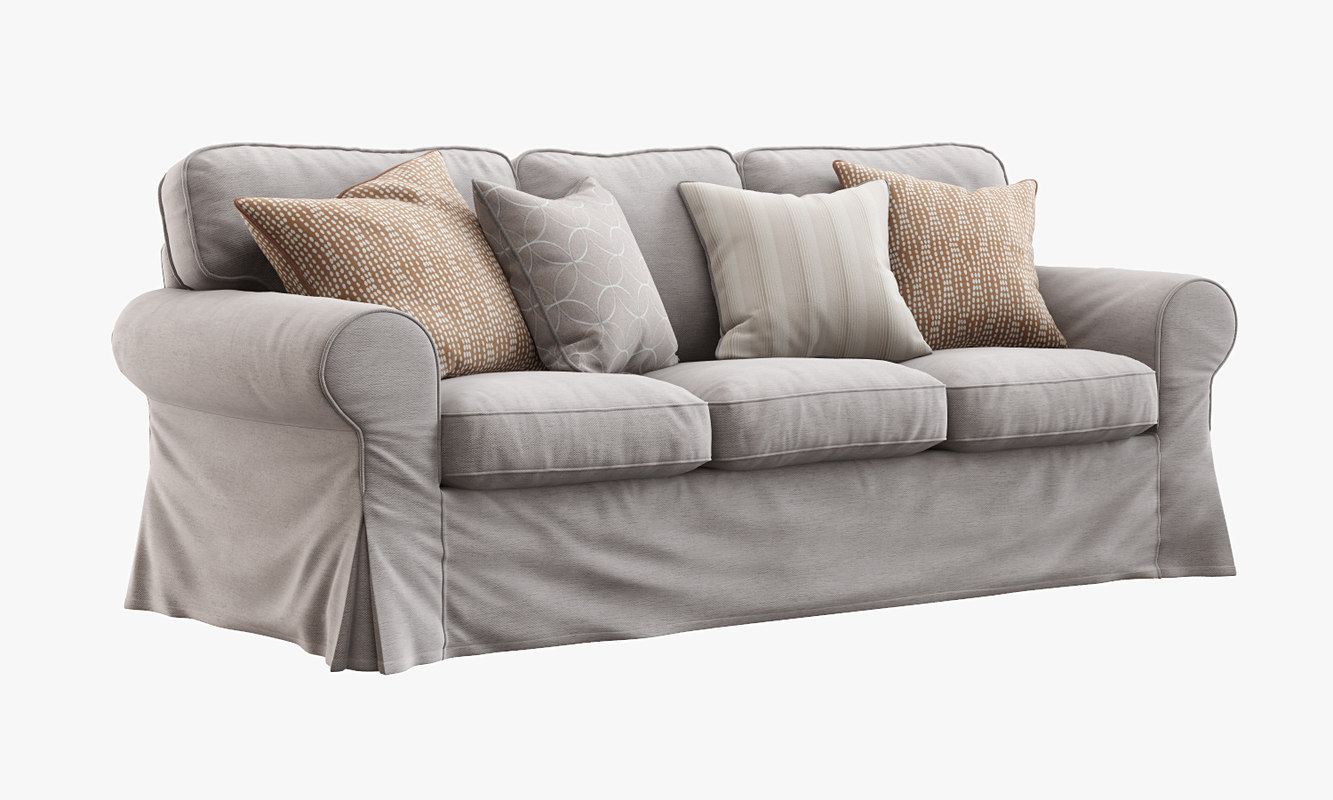 3d ikea ektorp sofa model for Sofa bed 3 2