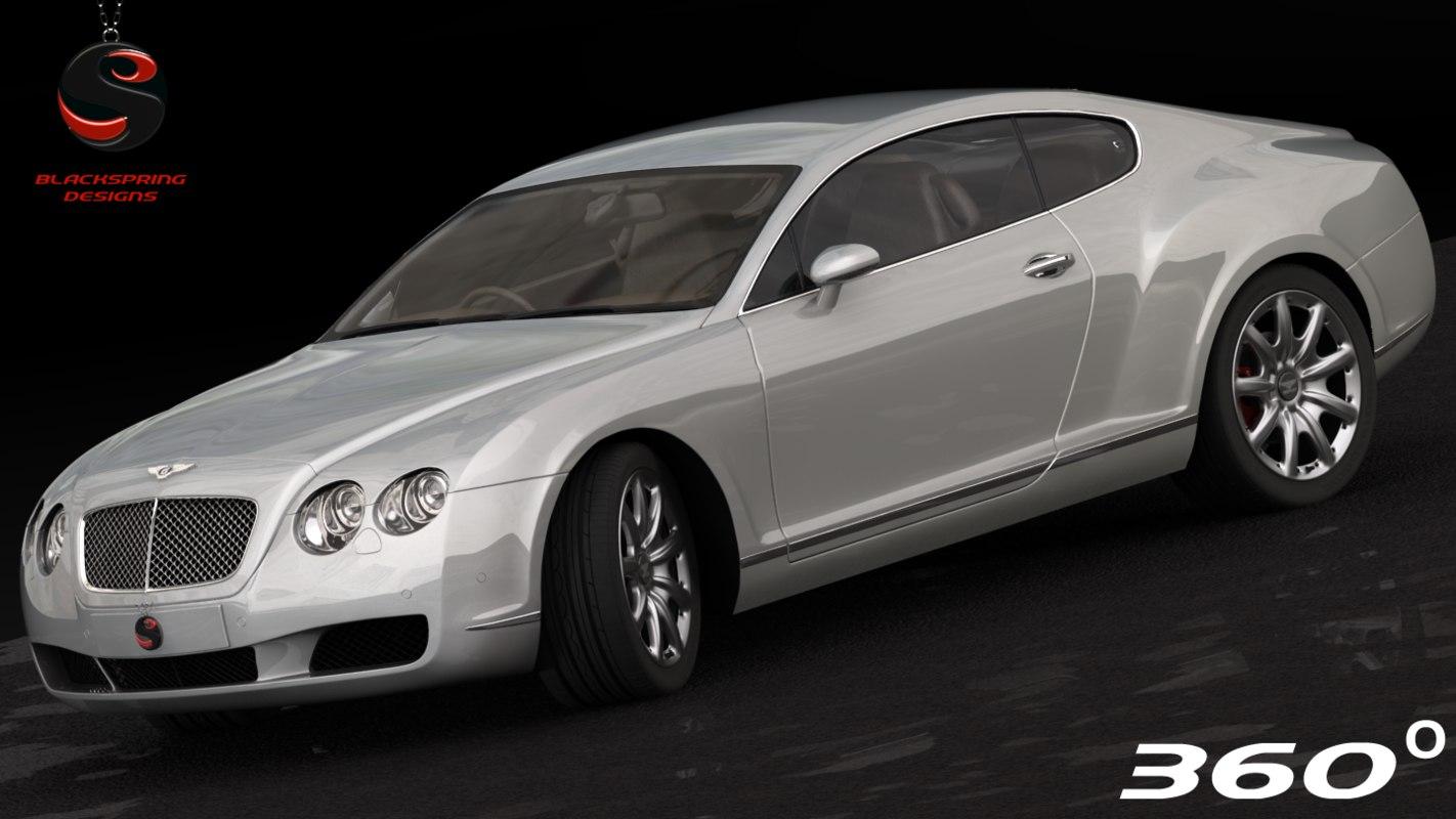 3d model bentley continental gt 2004