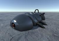 3d alien generator model