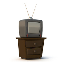 Cartoon TV set