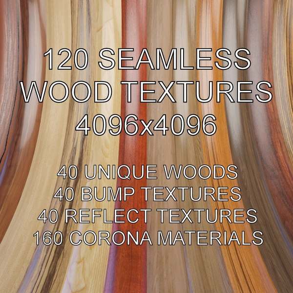 Seamless Wood Textures 4096x4096
