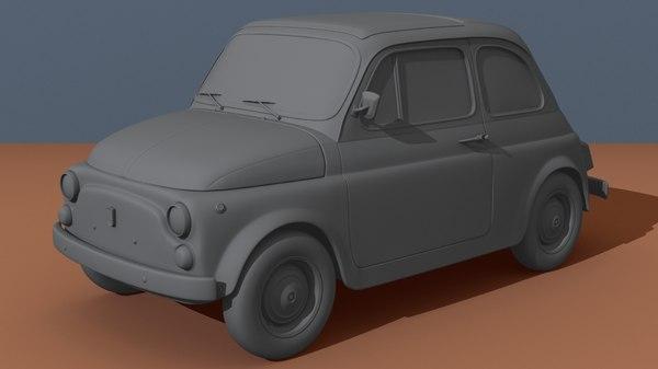 1960 s fiat 500 3d obj
