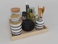 KITCHEN DECORATIVE SET