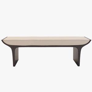 3d model laurel bench ottoman