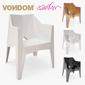 3d model vondom voxel silla chair design