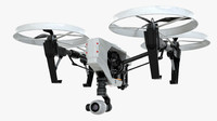 3d model quadcopter drone rotor