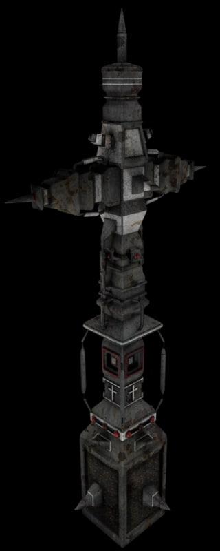 scifi cross 3d model