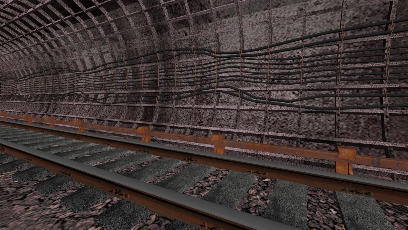 3d tunnel metro