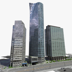 block office buildings 2 obj
