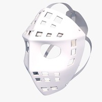 goalie mask 3d 3ds