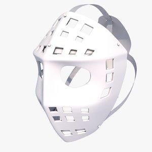 goalie mask 3d 3ds