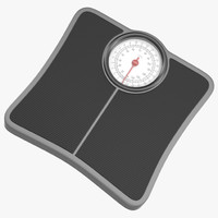 3d bathroom scale modeled