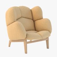 monna chair 3d max