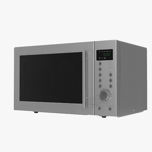 microwave oven 4 generic 3d model
