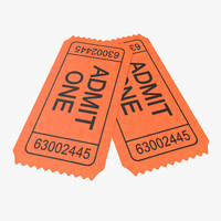 3d model movie ticket