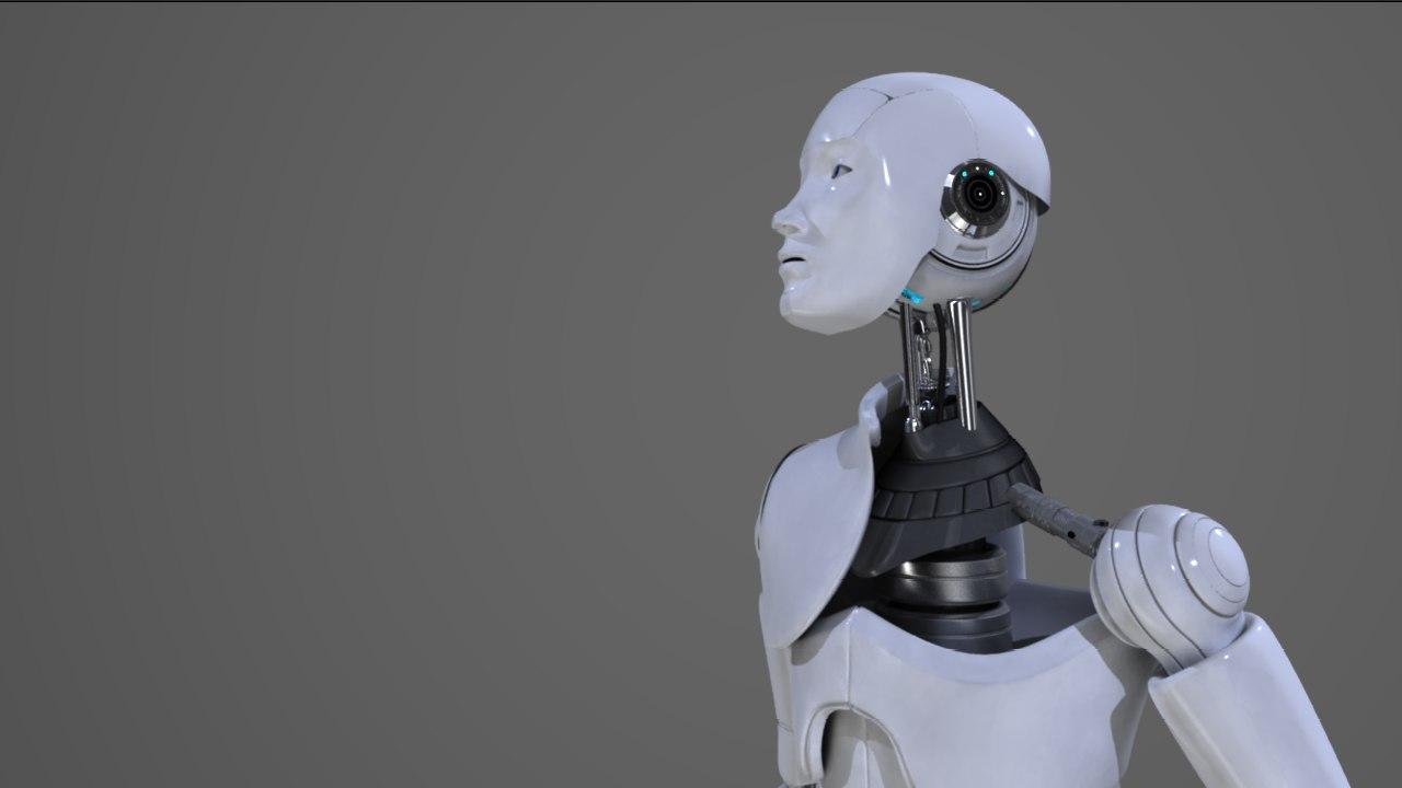 robot humanoid lvx-1 3d model