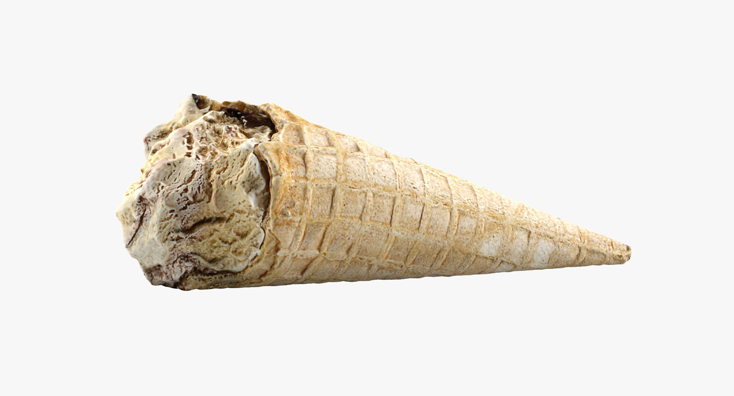 3d model ice cream crunch
