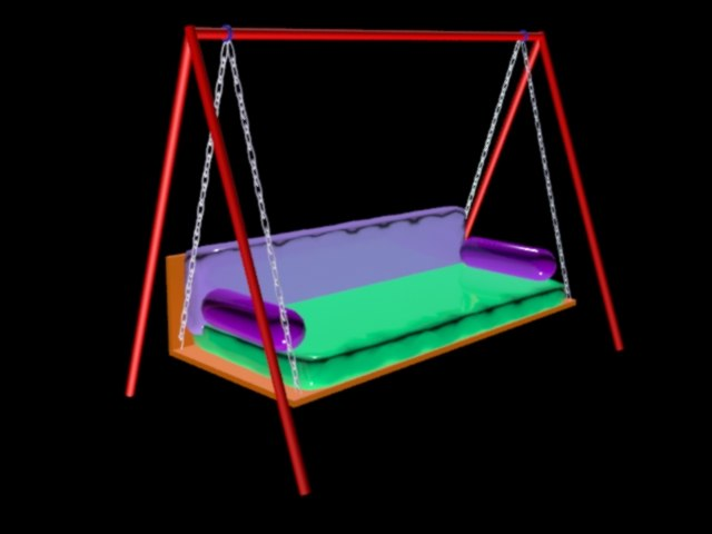 3d model swing garden chair