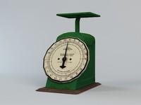 vintage kitchen scale 3d max