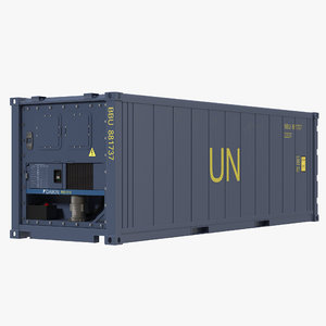 c4d iso refrigerated container blue