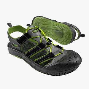sneakers 7 black modeled obj