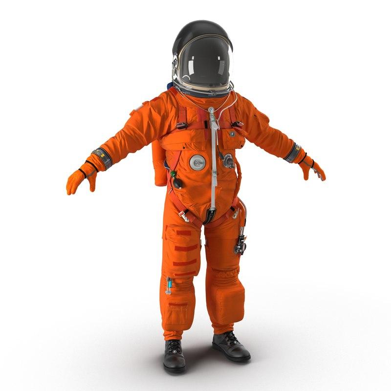 3d advanced crew escape suit model