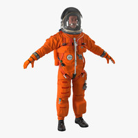 astronaut wearing advanced crew 3d 3ds
