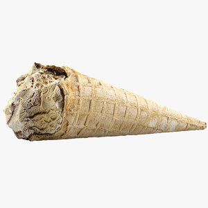 3d model ice cream crunch