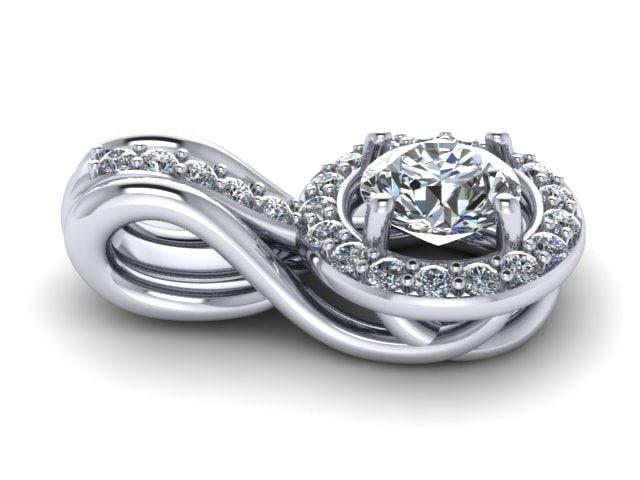 diamond ring 3d 3dm