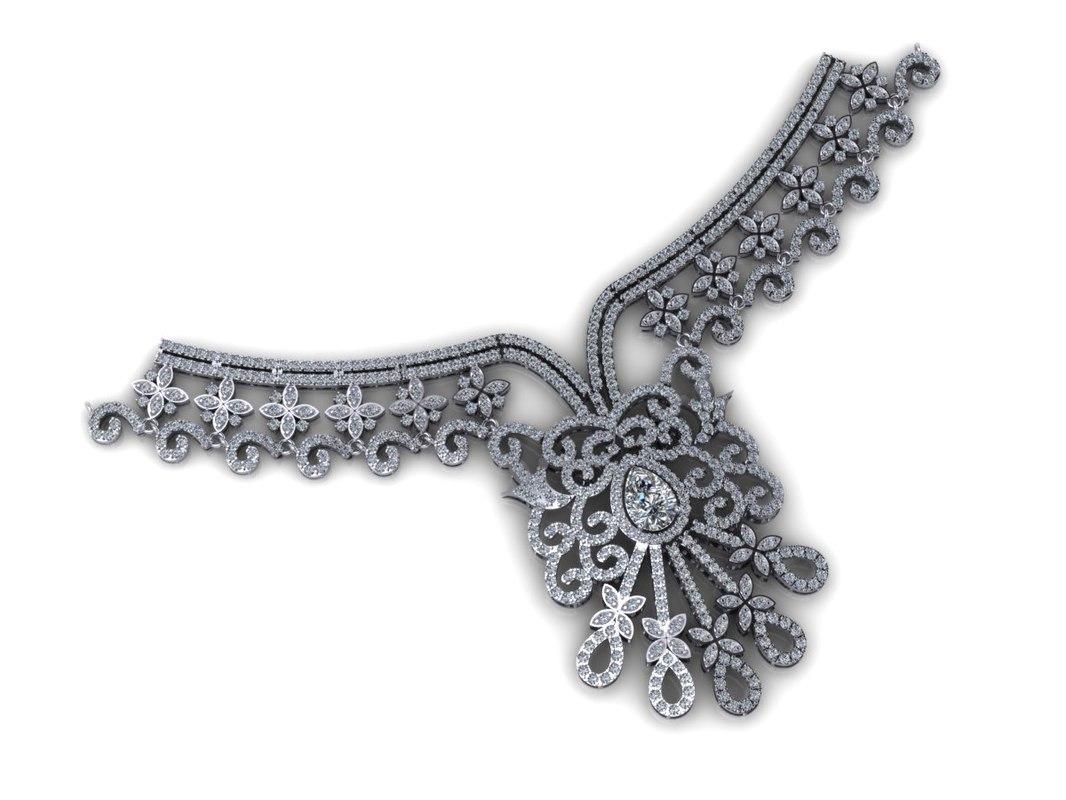 diamond necklace 3dm