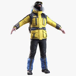 climber realistic boots 3d model