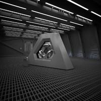 Sci Fi Reactor Room
