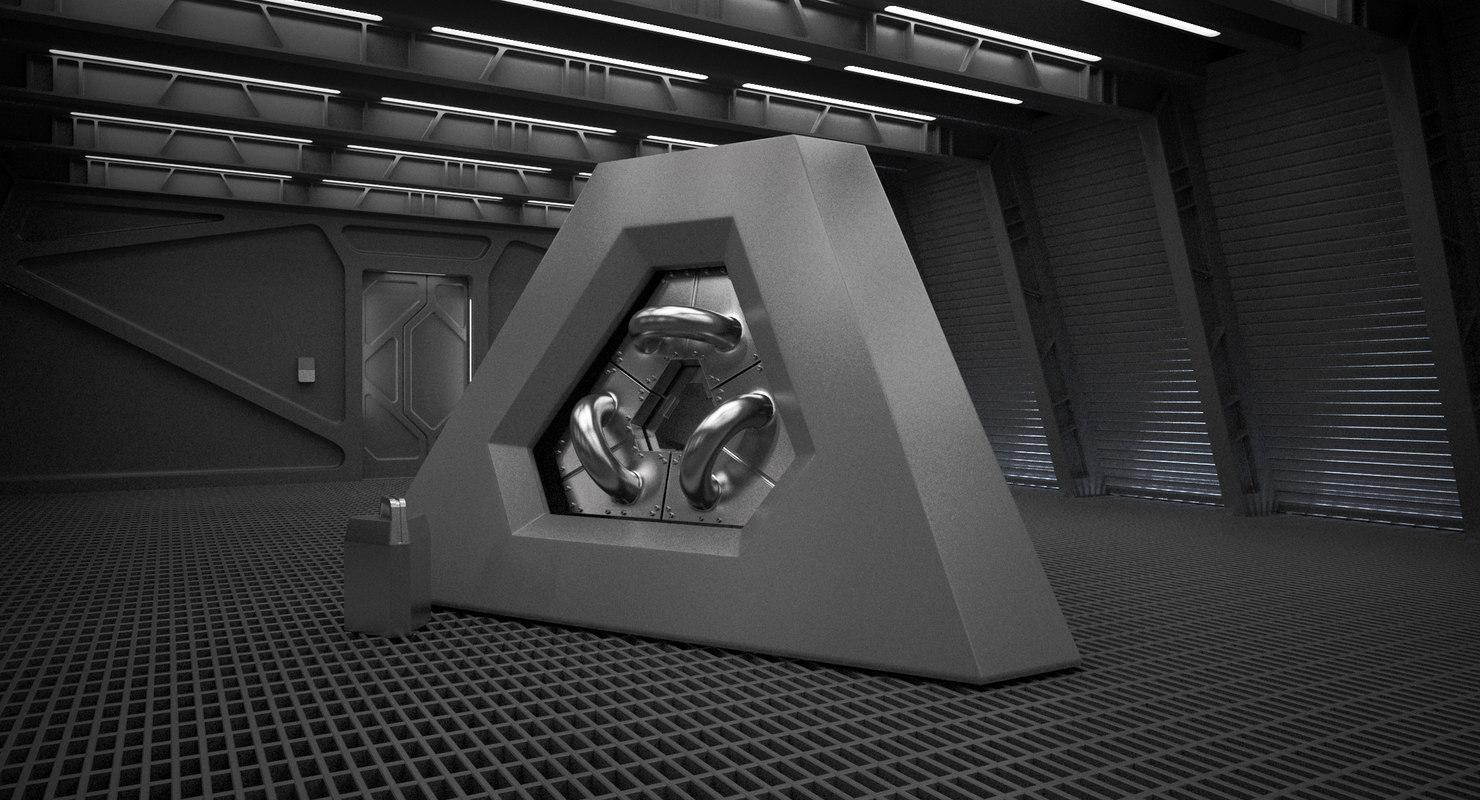 3dsmax sci fi reactor room