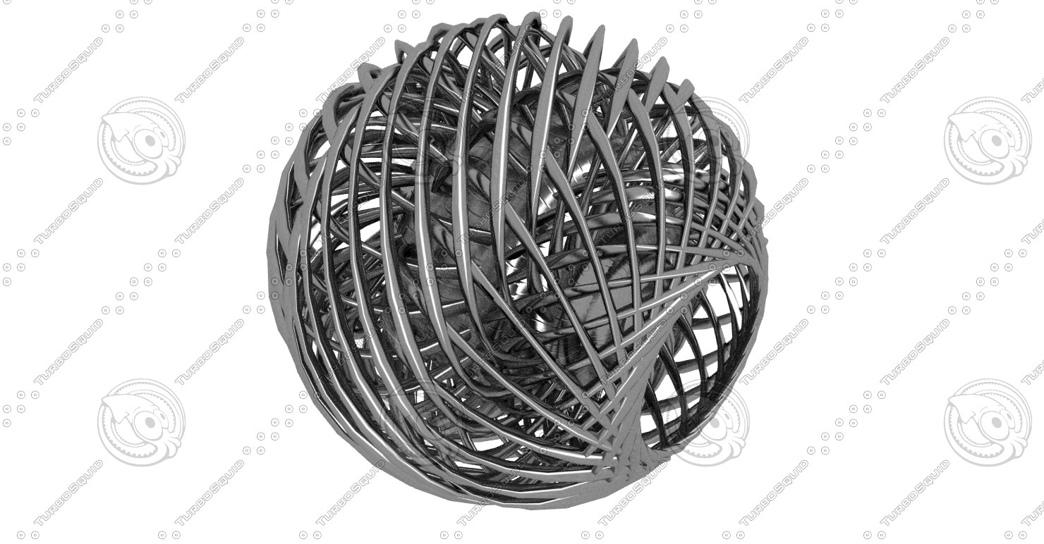 abstract sculpture 3d model