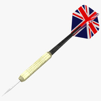 dart needle england modeled 3d 3ds