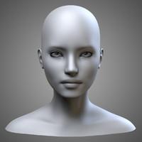 female head obj