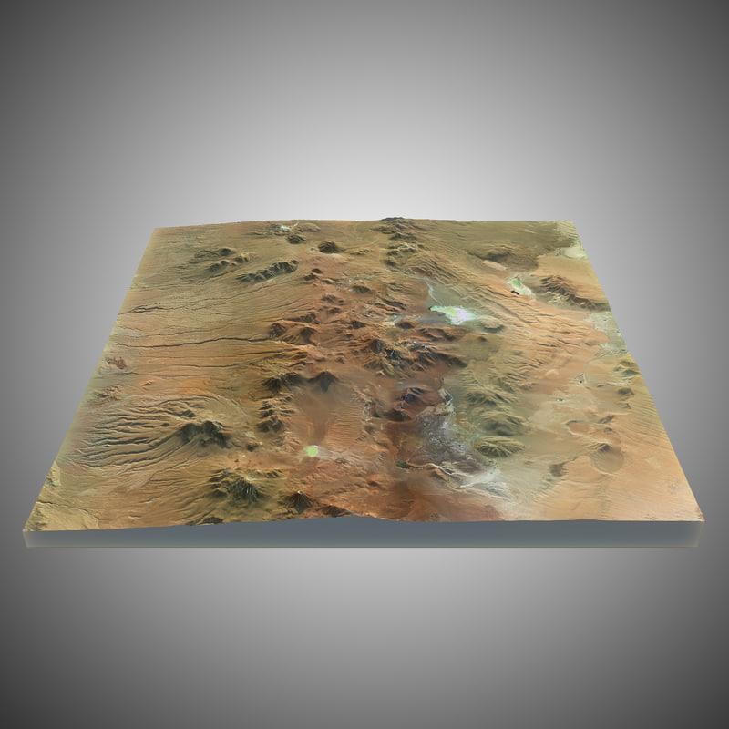 3d model volcano landscape
