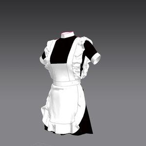 3d model shirt school uniform