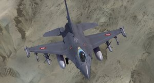 3d f16 falcon turkish model
