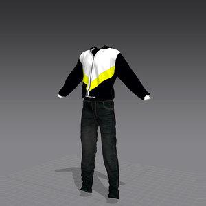 3d model shirt blazer