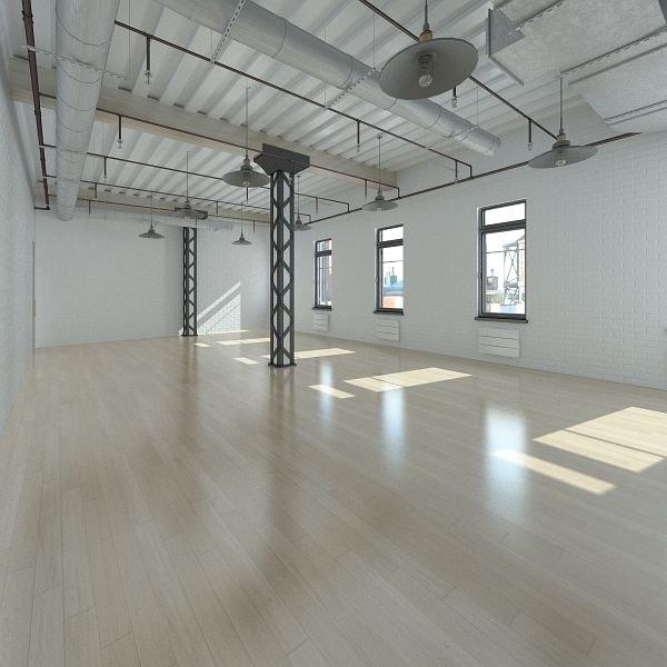 3d base loft interior scene model