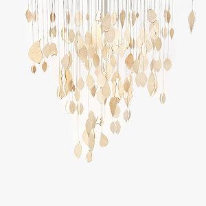 3d chandelier clouds model
