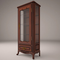 3d hall cabinet model