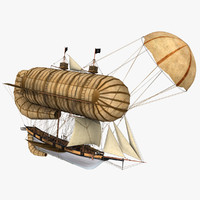 3d fantasy flying ship