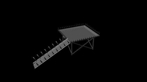 helipad heli pad 3d model