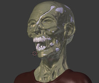 Zombie head (high detailed)