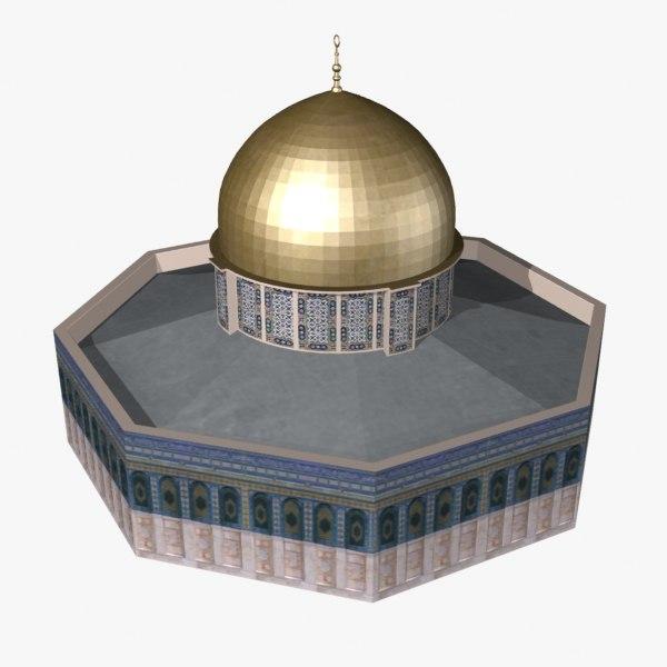 3d model dome rock
