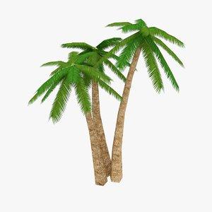 beautiful palm tree 3d 3ds