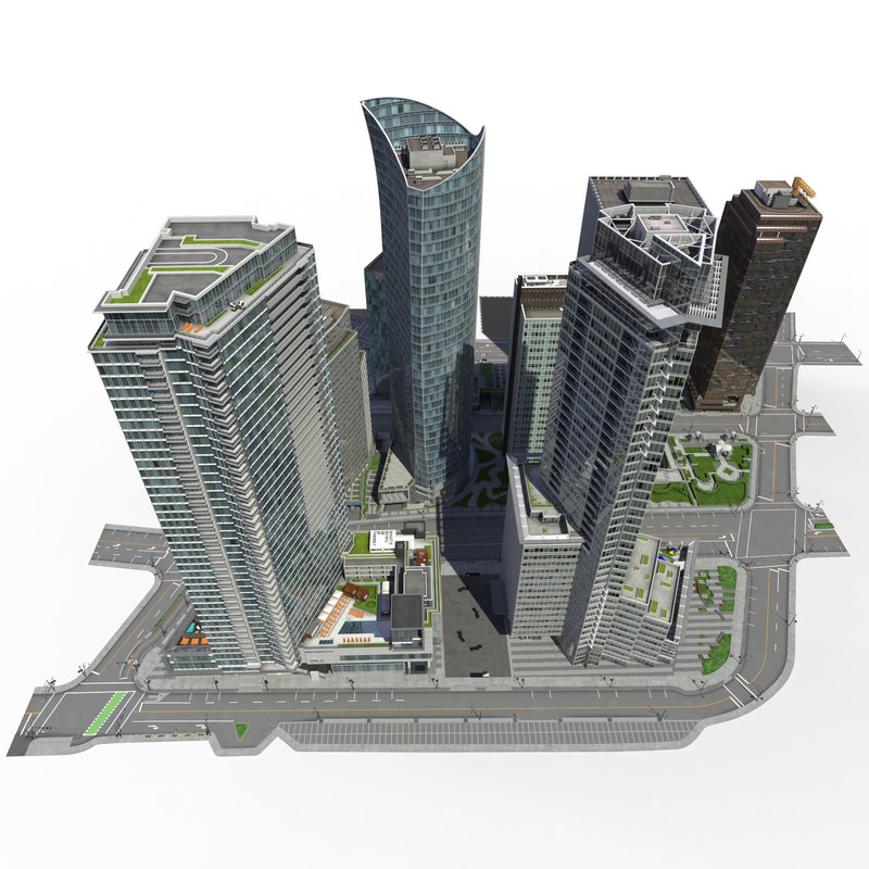 3ds max city block buildings