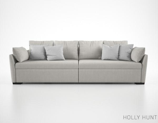 holly hunt villa sofa 3d model